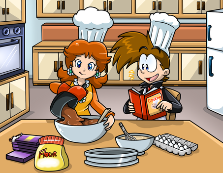 Commish: Cooking with Ms. Daisy by Nintendrawer