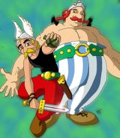 Asterix and Obelix by coldangel1