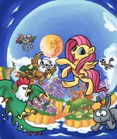 Super Fluttershy Land 2 Cover Art Done (No Letters by DocWario