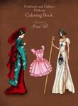 Back Cover : costume and fashion  coloring book by BasakTinli