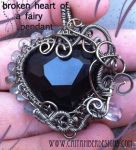 Broken Heart of a Fairy Pendant by tanyquil