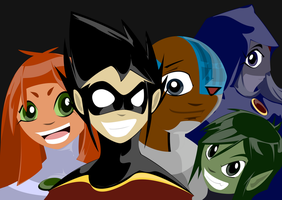 Teen Titans by chinkyflpz