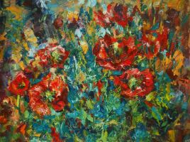 Red  Poppies by andr3d