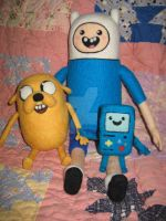 My Needle Felted Finn, Jake, Beemo/BMO by CatsFeltLings