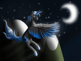 Descending In The Night by Blablashmo
