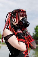 Cyber Goth Red 1 by Kimidori-apple