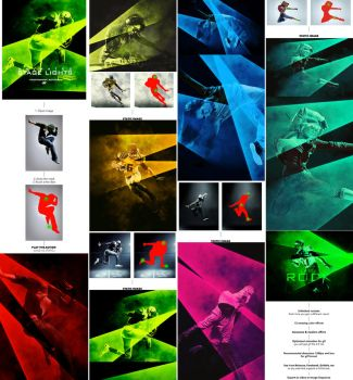 Gif Animated Stage Lights Photoshop Action by GraphicAssets