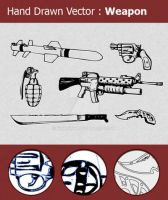 Hand Drawn Weapon Vectors by ninninny