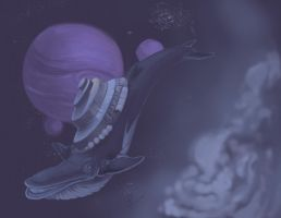 whales in space part 1 by juliakrase