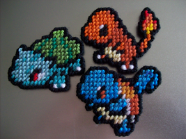 Kanto Starters Redux by AprilMoonshine