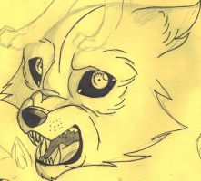 Scared Wolf Puppy Sketch by x-EBee-x