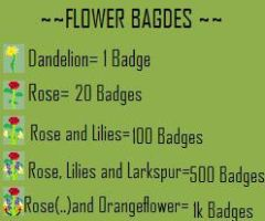 Flower Deviant-Badges by BANGDK