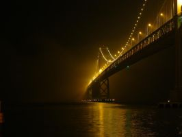 Bay Bridge in Fog - SF by BrandonCWatson