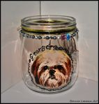 Dog Candle Holder by Bonniemarie