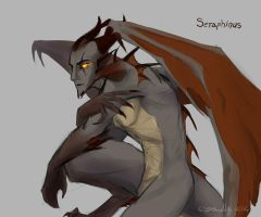 Seraphinus is a Gargoyle now by PurpleTigress