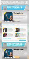 Product Showcase anReal Estate Flyers PSD Template by ShermanJackson