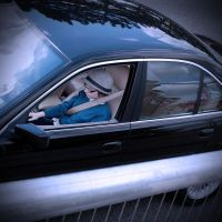 BEING DRIVEN IN BLUE by martiuk