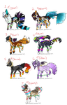 Breedable Set 2 ** PAUSED ATM** by HazeAdopts