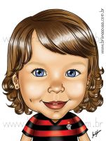 Caricature - Livia by brunasousa
