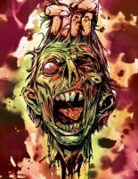 ZOMBIE HEAD by Santolouco