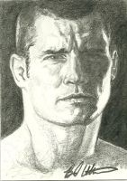 Michael Bisping sketch card by therealbradu