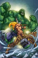 Thor vs. Hulk by AlonsoEspinoza