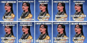 Hipster Pocahontas by JKproj