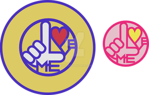 Love ME Section Logo by vix88
