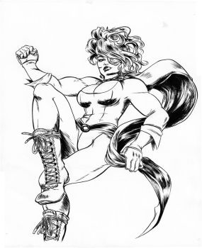 Power Girl Inked by SooDLee