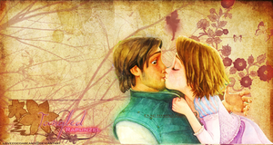 Tangled-Rapunzel and Flynn Wallpaper by lovecocoabeans