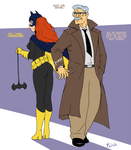 Batgirl and commissioner Gordon by Flick-the-Thief