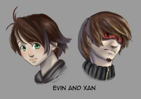 RTE portraits I - Xan and Evin by tehrin