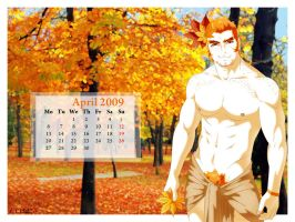 Pipo's Calendar 2009 April by Luisazo