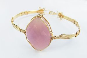 Purple Quartz Bangle by pixie-trick