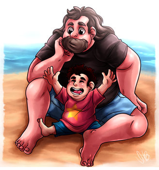 Beach Dad by Takeuchi15