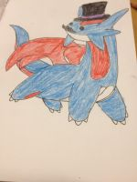 Fancy Pokemon- Salamence by Darkshadowarts