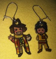 Cute Doctor and Adric earrings by Lovelyruthie