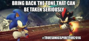 Bring Back the Tone That Can Be Taken Seriously by WeWantSonicA3