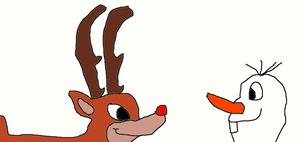 Rudolph meets Olaf by Simpsonsfanatic33