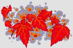 red leaves by Xmukkah