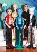 Monster High custom mansters by rainbow1977