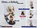 Riven The exile Chibi sculpture (League of Legends by Hideoki
