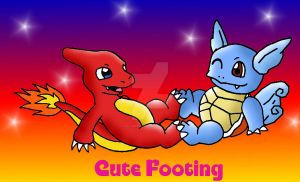 Charmeleon and Wartortle footing commision by VOLTAREVILGIRL