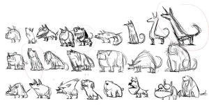 thumbnail sketch for dog design by yen-wen-hsieh