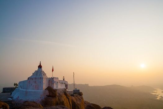 Anjaneya hill sunrise by JuhaniViitanen