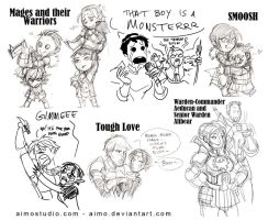 DA2 - Chibis and Sketchies by aimo