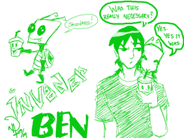 BEN10: AU - INVADER BEN by pan2dapan