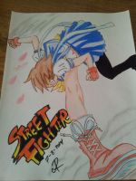 (street figther) sakura by PaintR0ck