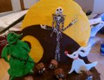 Nightmare Before Christmas Cake by aakahasha