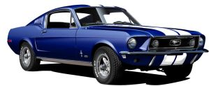 1968 Ford Mustang GT 390 blue by Drogobroadband